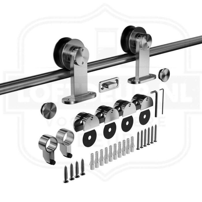 RVS Schuifdeurssysteem - Roestvrijstaal schuifdeursysteem Lzelf houten schuifdeur maken 1