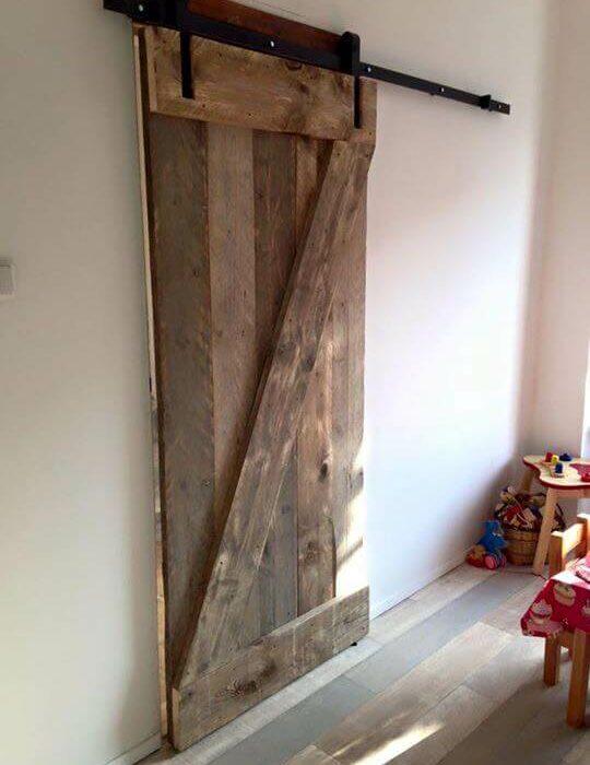 schuifdeur oud steigerhout barndeur