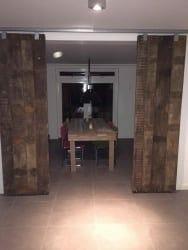 wagon planken schuifdeur project loftdeur