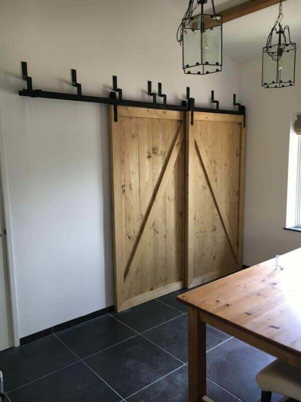Schuifdeursysteem In De Wand.Schuifdeur Wand Complete Set Voor Eenvoudige Montage