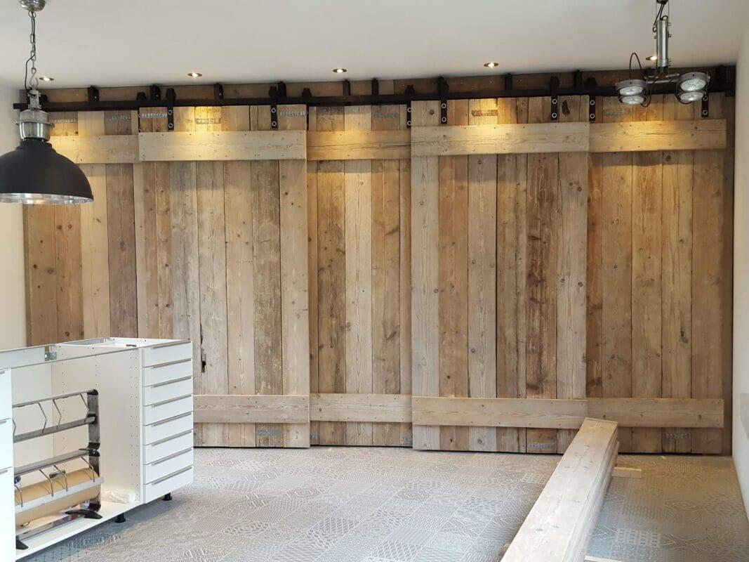Schuifdeuren Voor Kastenwand.Schuifdeur Wand Complete Set Voor Eenvoudige Montage