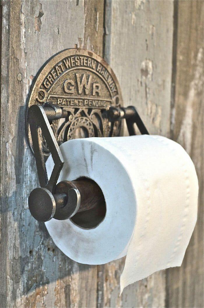 Toiletrol houder loftdeur uniek