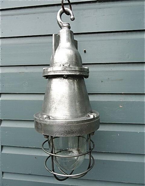 Industriele lampen van for Kleine industriele hanglamp