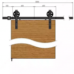 Robuust schuifdeursysteem - Maak zelf een schuifdeur met een Robuust industrieel schuifdeursysteem technische tekening