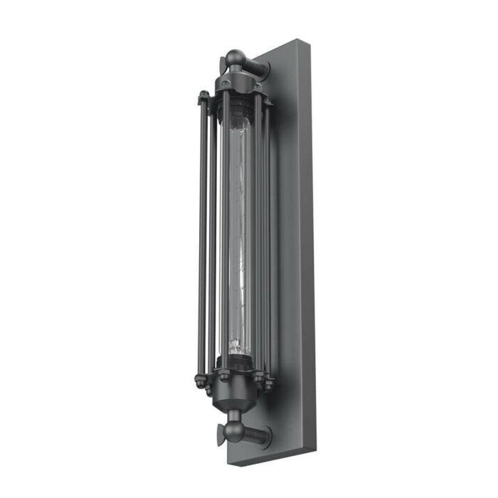 Industriele Steampunk zwarte wandlamp Edison Kooldraad