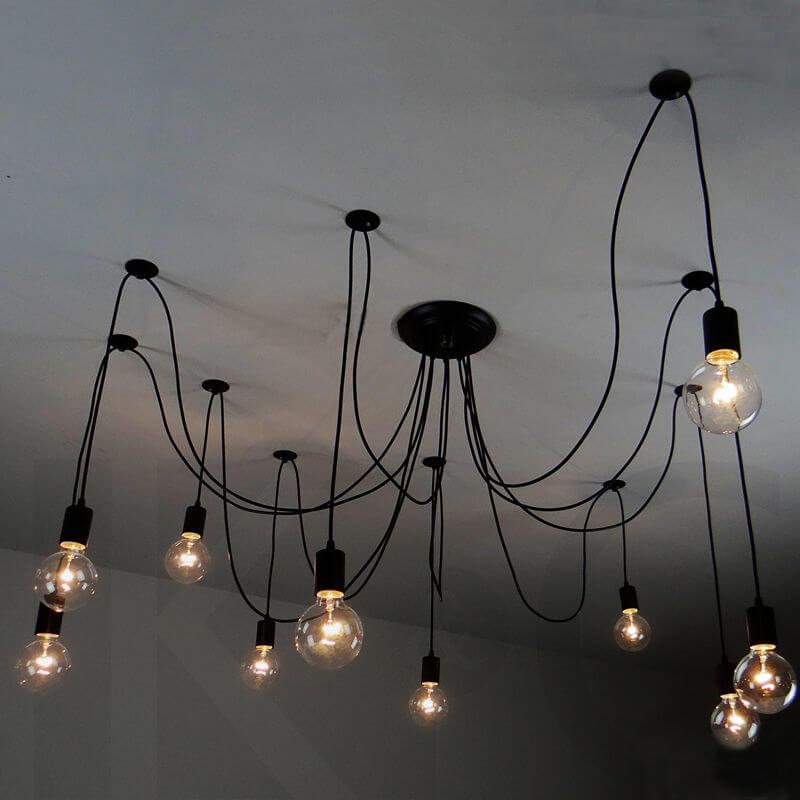 Loftlamp amerikaans model octopus 10 armen