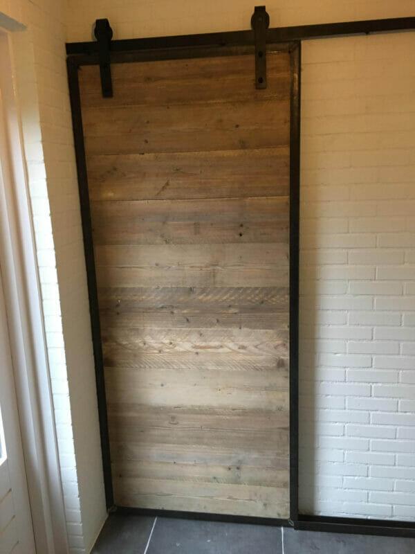 Schuifdeur steigerhout kopen op maat gemaakt loftdeur - Schuifdeur deur ...