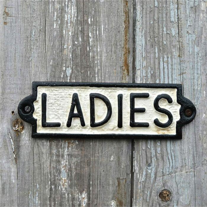 Toilet bordje dames voorkans