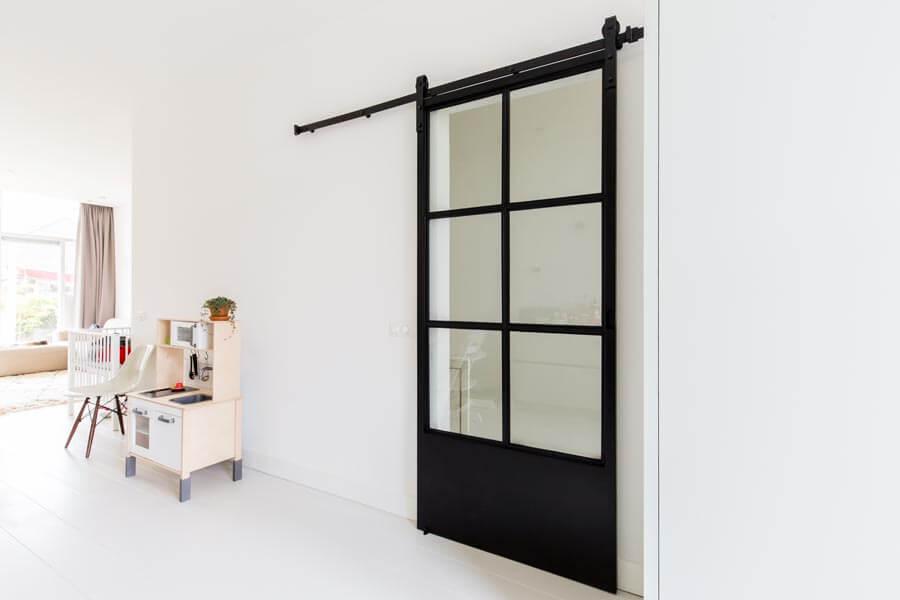 Industri le stalen deur stalen schuifdeur op maat gemaakt Schuifdeur woonkamer
