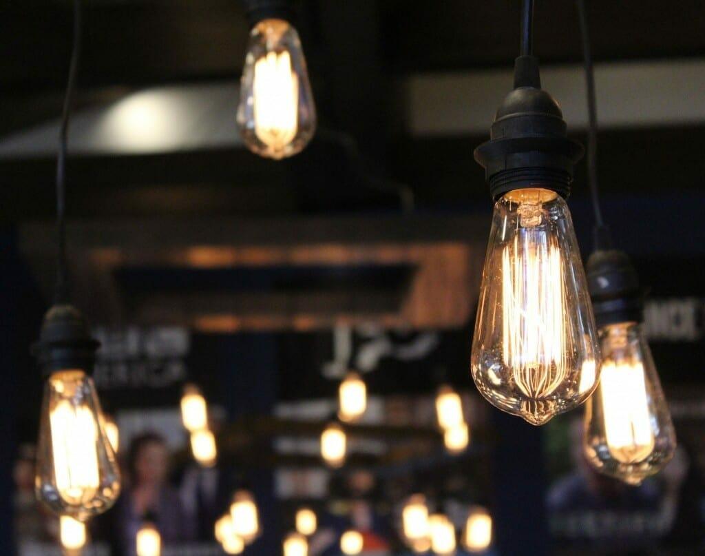 Industriële keuken lamp met edison lampen   lightbar