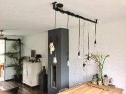 Industriele Lamp Keuken : Industriële keuken lamp met edison lampen loftbar