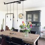 Loftbar industriele lamp 5 armen