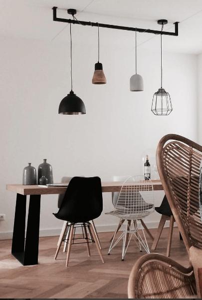 Industri u00eble keuken lamp met Edison lampen   Lightbar
