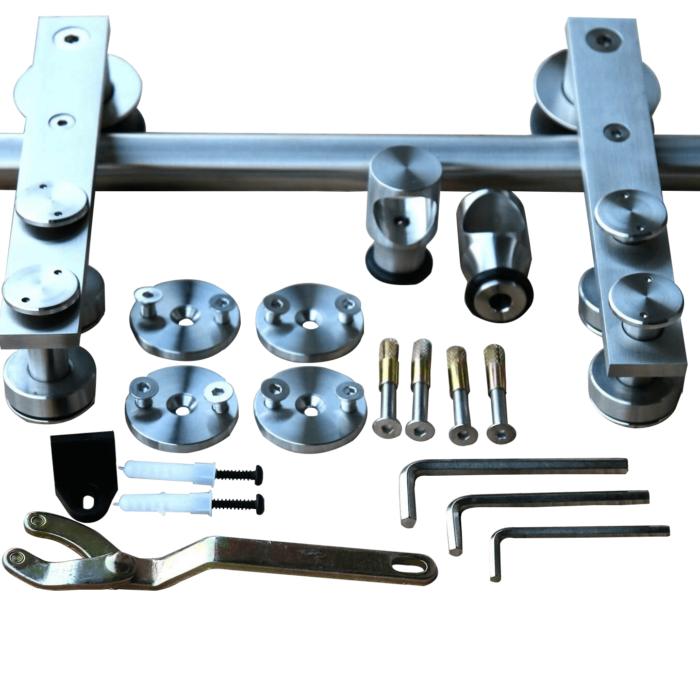 loftdeur-schuifdeursysteem-recht-rvs-geborsteld-2000mm