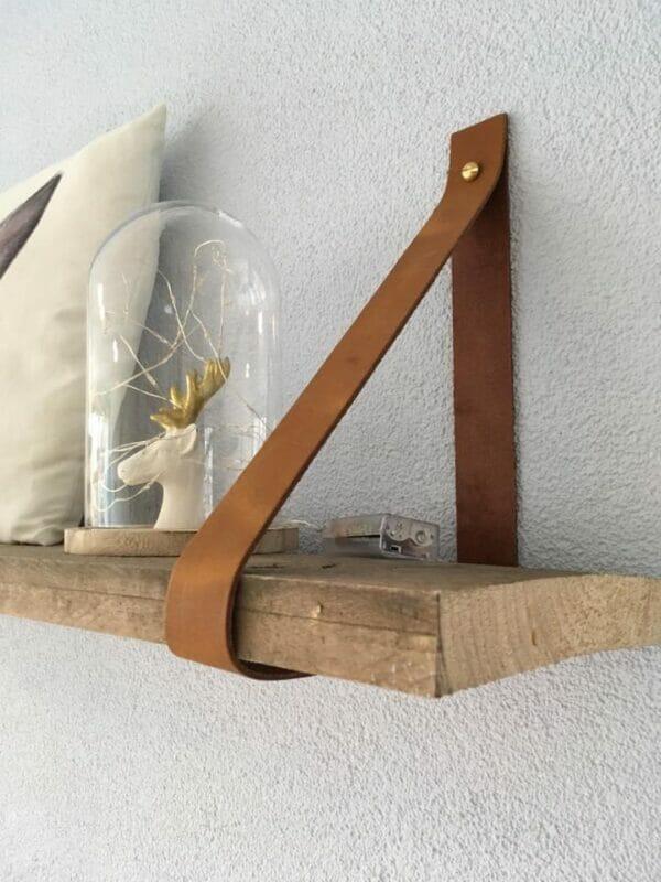 Plankje Voor Aan De Muur.Leren Plankdragers
