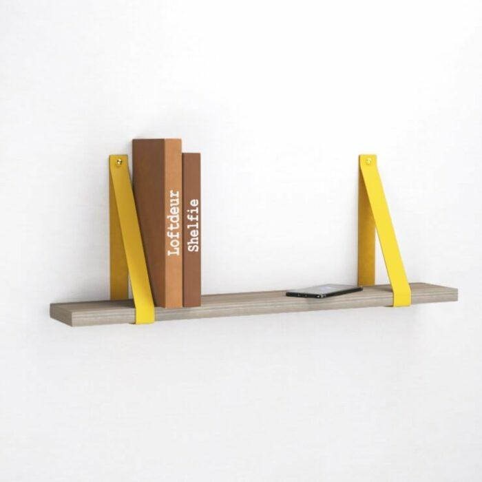 oker-geel-leren-leer-plankdragers-wandplank
