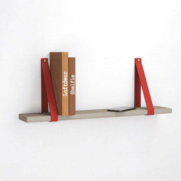 rode-leren-leer-plankdragers-wandplank