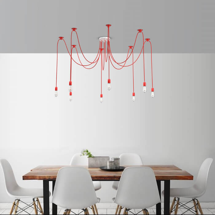 spinlamp-kroonluchter-rood-700
