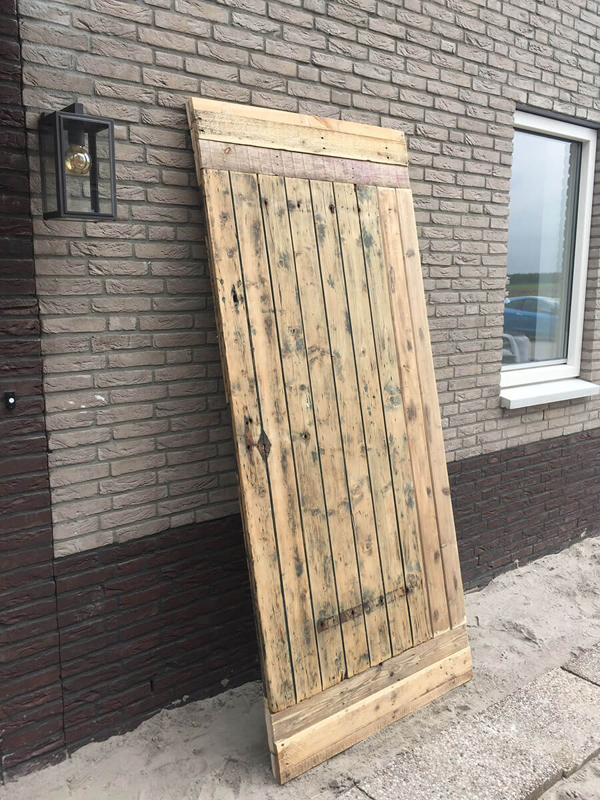 Uitzonderlijk Houten Schuifdeur maken - Loftdeur   SH95
