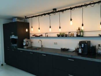 Industriële keuken lamp met Edison lampen - Lightbar