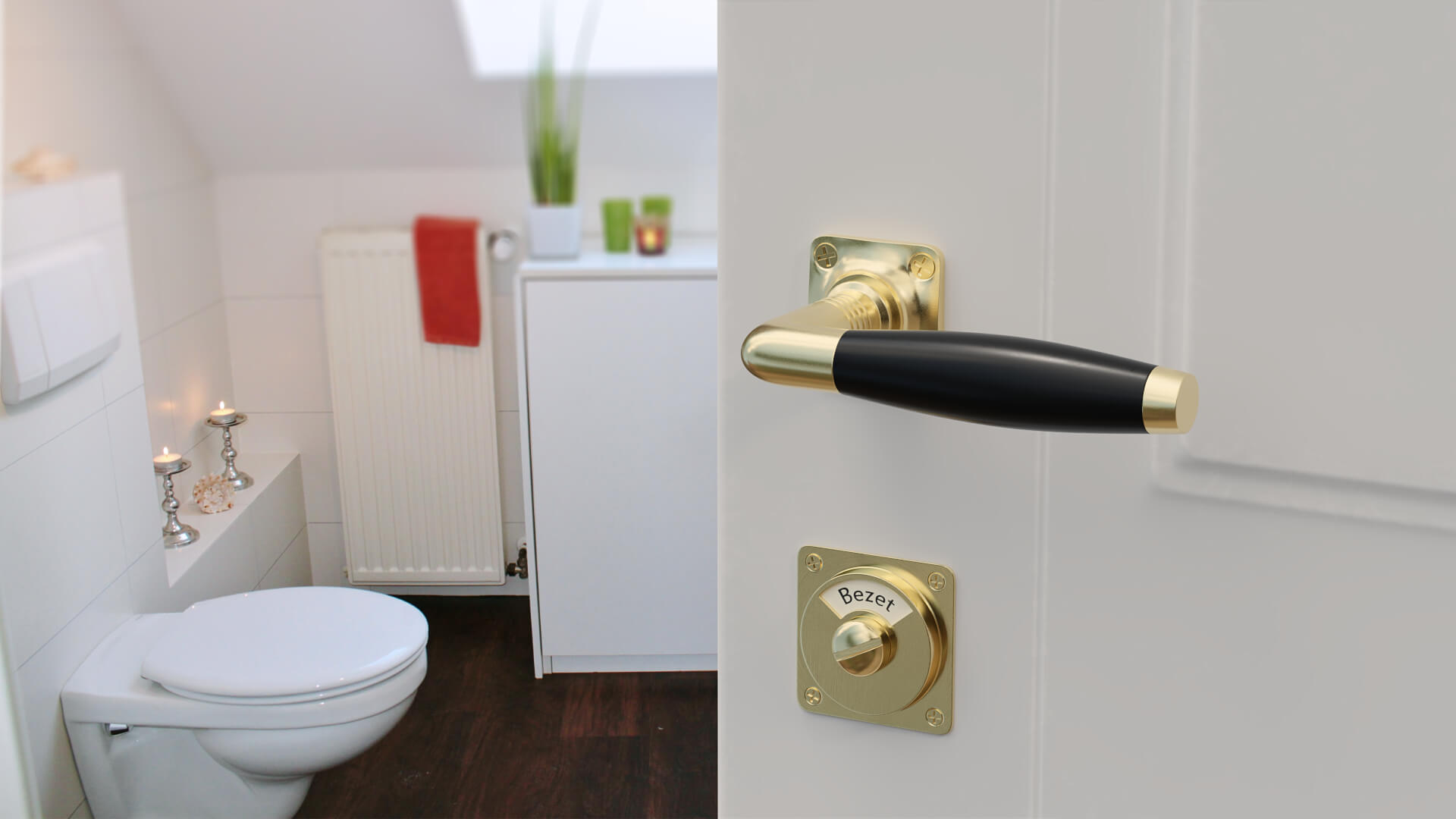 Toilet Vrij Bezet : Jaren 30 deurkruk ton 400 nikkel ebbenhout vanaf 19 euro