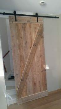 Schuifdeur voor trapgat |