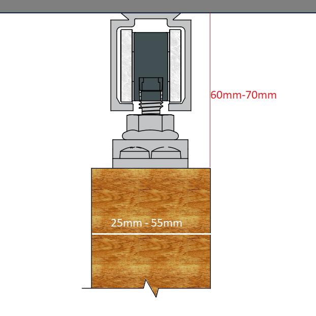 Schuifdeur Inbouwen In Muur.Schuifdeursysteem Inbouw Schuifdeursysteem