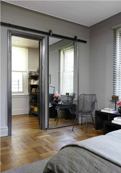 Spiegel schuifdeur op maat gemaakt met loftdeur for Spiegels op maat