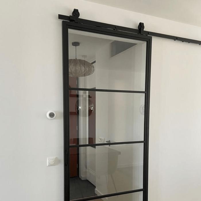 Stalen Schuifdeur met Glas - Incl. Schuifdeursysteem 6