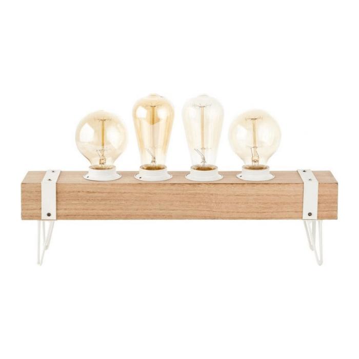 Brilliant White Wood Tafellamp