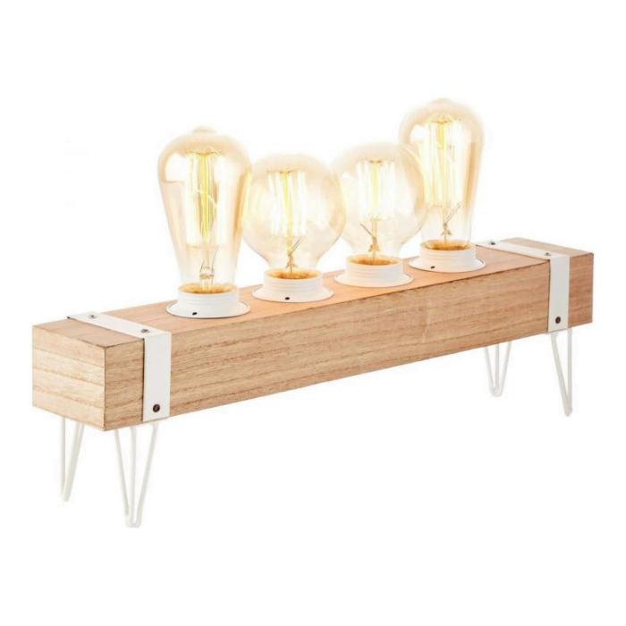 Brilliant White Wood Tafellamp 2