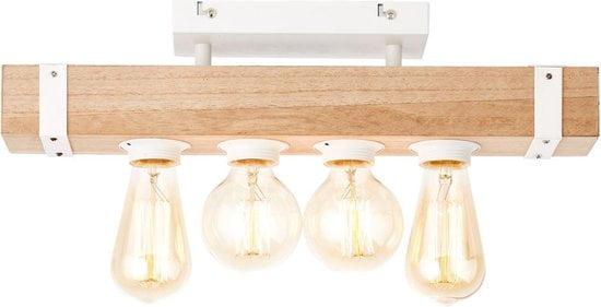 White wood plafondlamp 1