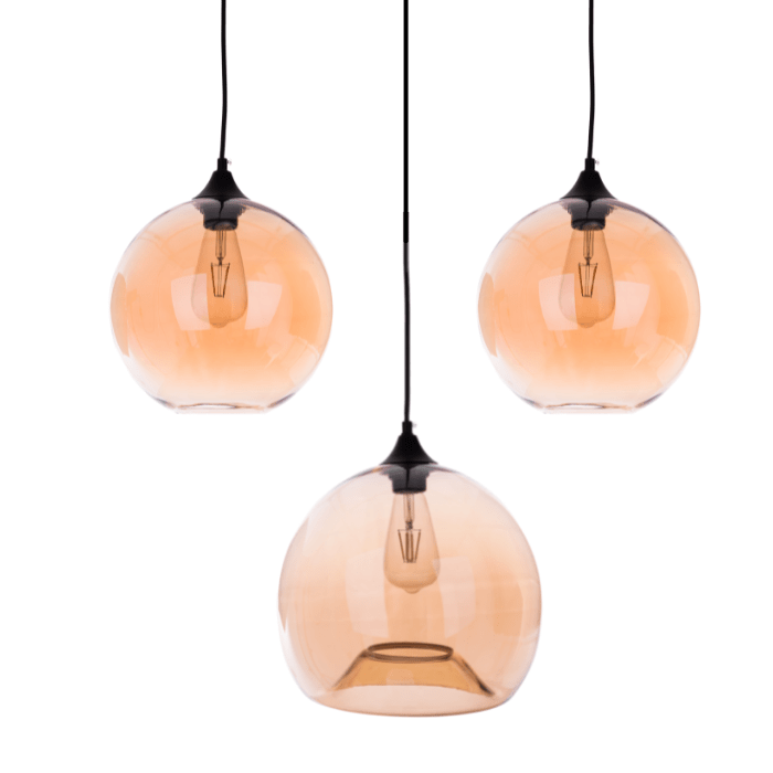 Gekleurde hanglamp Ganges Amber