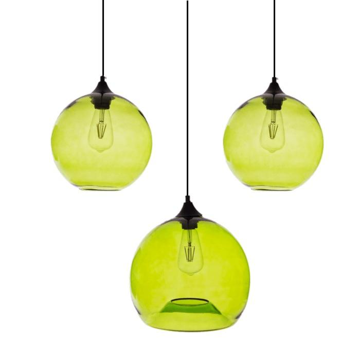Gekleurde hanglamp Ganges Green