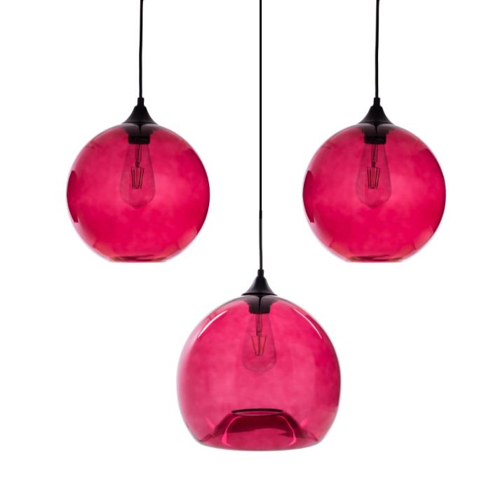 Gekleurde hanglamp Ganges Rosé Red