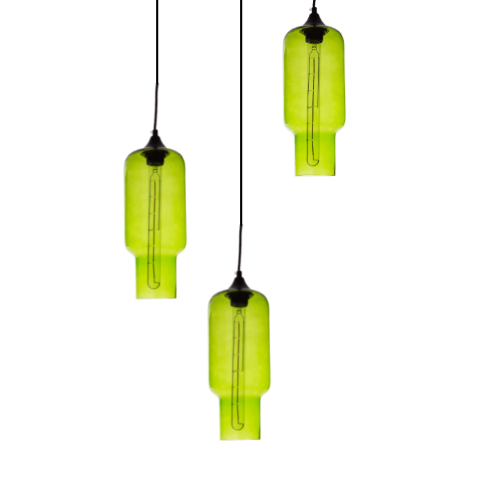 Gekleurde hanglamp Kali Green