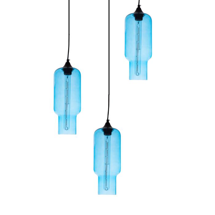 Gekleurde hanglamp Kali Indigo