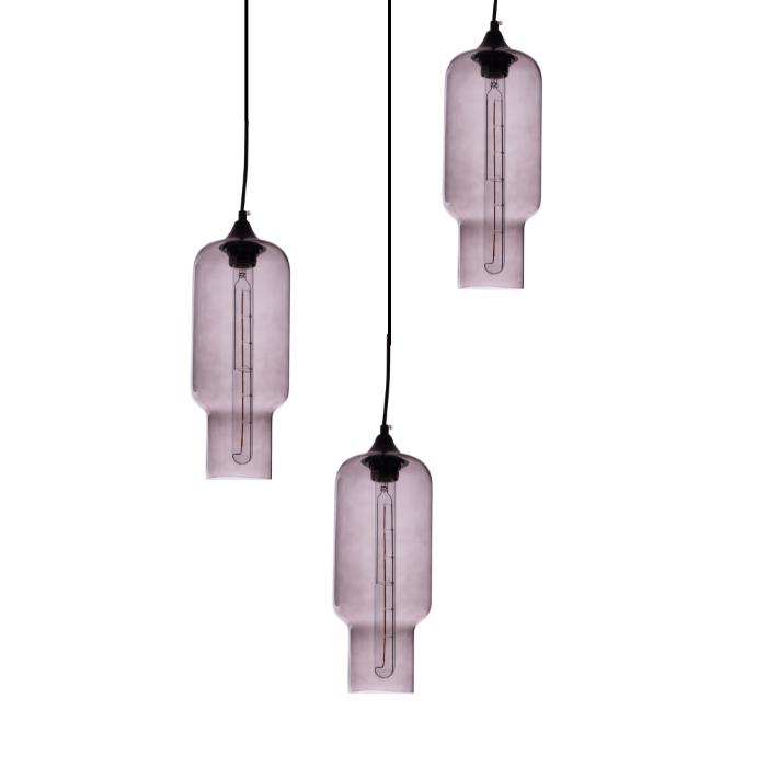 Gekleurde hanglamp Kali Smokey Grey