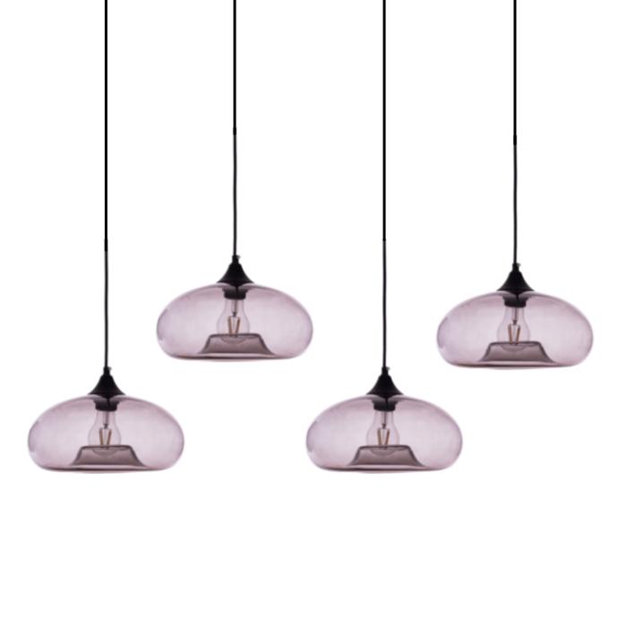 Gekleurde hanglamp Koshi Smokey Grey